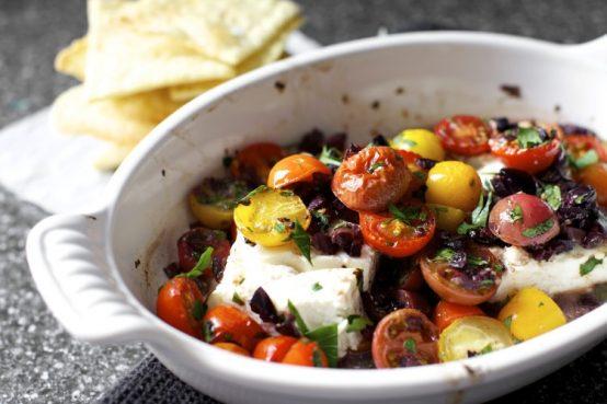 Tomates rôties et feta au four