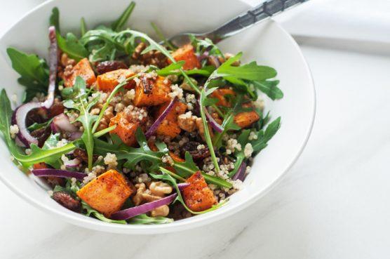 Salade de patates douces au quinoa