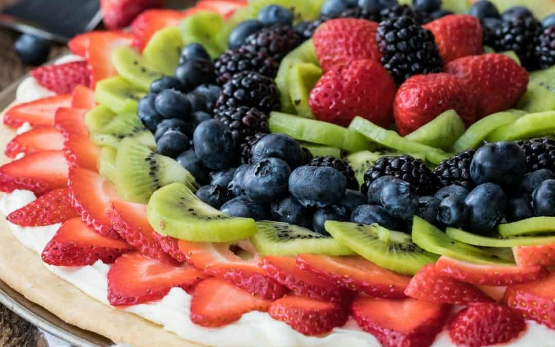 Pizza aux fruits
