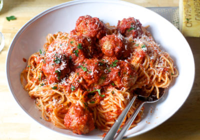Spaghetti et boulettes de viande sans gluten