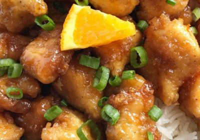 poulet à l'orange au four