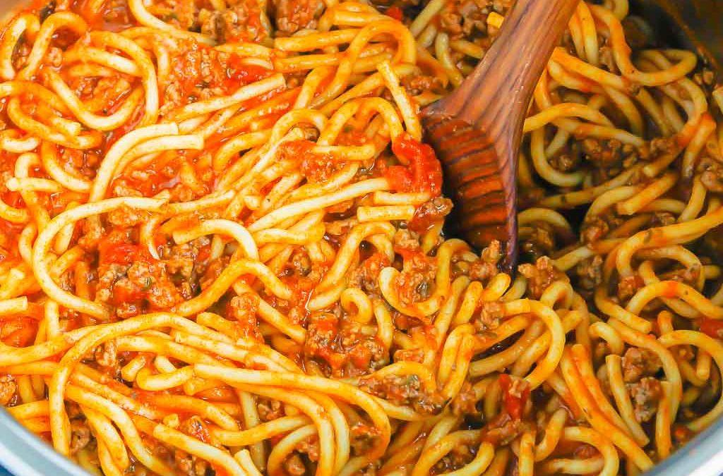 Spaghetti à la mijoteuse