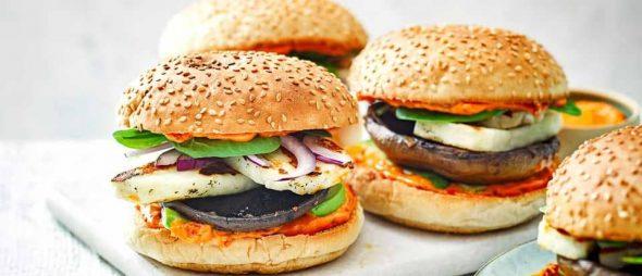 Hamburger aux légumes et champignons