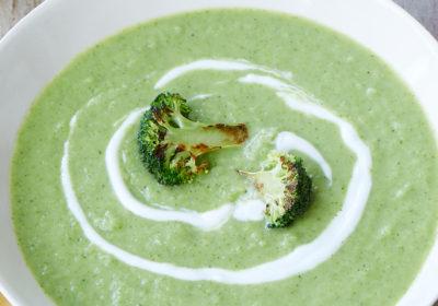 Soupe Végétarienne à la crème de Brocoli