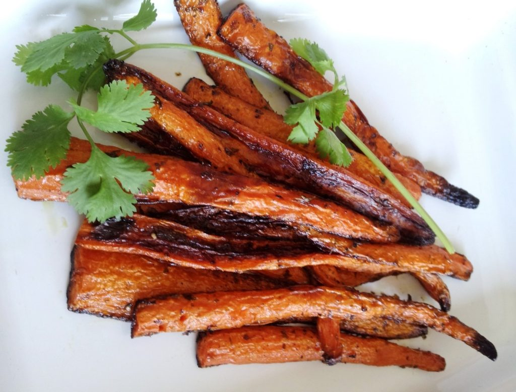 carottes blanche roties au miel