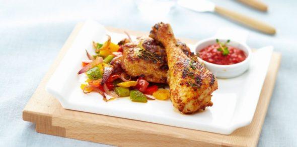 cuisse de poulet cuit