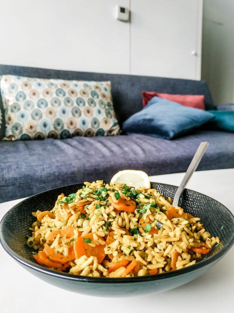 plat riz et carotte