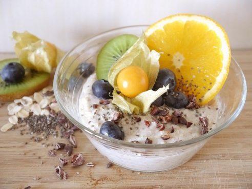 coupe de glace et fruit