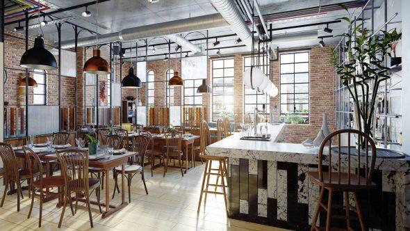 mobilier industriel restauration bar restaurant