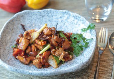 Sauté de poulet aux agrumes aigre-doux