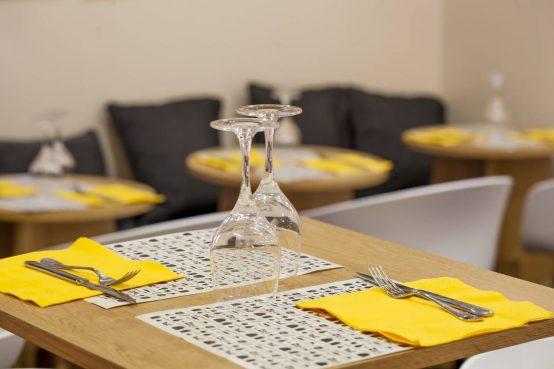 Restauration set de table imprimé